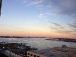 Such a beautiful view in New Orleans just one day ahead of the Super Bowl (Feb. 2, 2013).