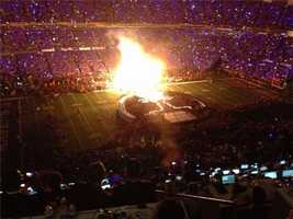 Inside Beyonce's halftime show (Feb. 3, 2013).