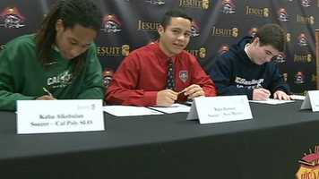 These three Jesuit seniors signed letter of intent to compete in college sports.
