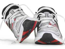 Running shoes. Used running shoes are often devoid of the cushioning that runners need&#x3B; stick with new shoes for the cushioning and fit that will protect knees, feet, and legs.