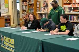 Christian Basden from Vanden High School in Fairfield signed his National Letter of Intent to attend Humbolt State University. He is the school's only student athlete to sign.