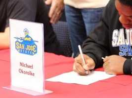 Michael Okoroike of Antelope High School will play football for the San Jose State Spartans.