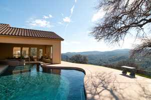 Here's the outdoor pool. The home also has an indoor pool.