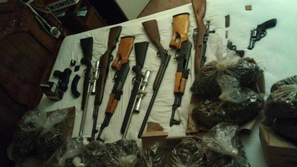 Guns, marijuana found inside Stockton home
