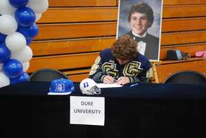 Joey Abbate, of Central Catholic High School, signed his letter of intent to wrestle at Duke Unversity