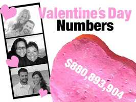 $880,893,904: The value of imports for cut flowers and buds for bouquets in 2011. Flower bouquets are a popular gift for loved ones on Valentine's Day. The total value of fresh cut roses in 2011 was $365,453,189. Source: U.S. Census Bureau: Foreign Trade Division USA Trade Online U.S. Import and Export Merchandise trade (Commodity code-060319