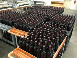 These bottles of Opus One are awaiting speical labeling for international shipping. In the US they retail for $195 each.
