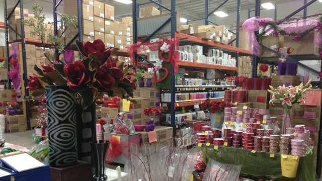 Valentine's Day floral warehouse