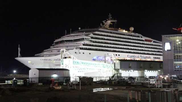 Triumph approaches dock
