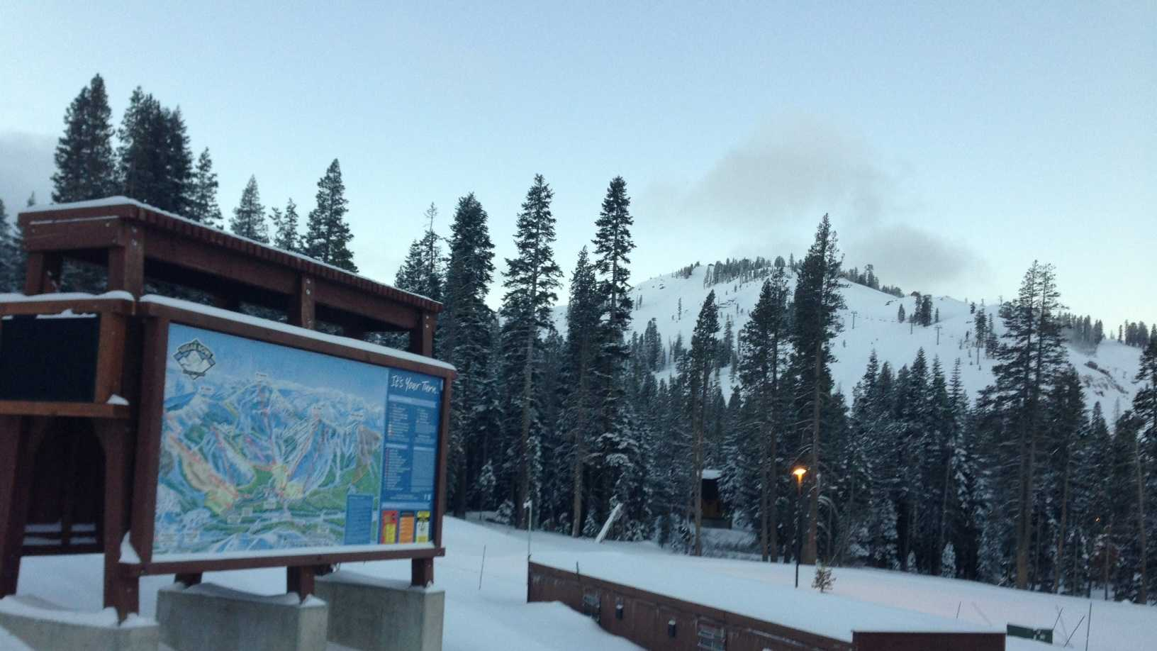 Sugar Bowl reported ten inches of snow at the base and over a foot of new snow at the summit.