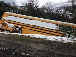 CHP officials said that 16 Mariposa High School students and a bus driver were on board.