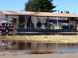 Fire investigators are still looking into the cause of the former cheese factory fire.