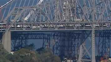 A crane working on the Bay Bridge expansion project collapsed Thursday afternoon.