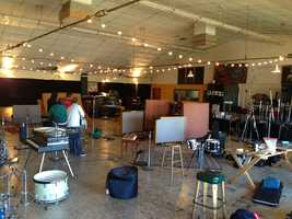 The Hangar has a 3,000-square-foot recording studio, one of the three biggest on the West Coast.
