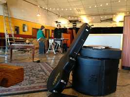 Members of Cincinnati-based Sun Country drove more than 2,000 miles to record at Hangar Studio.