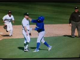A frame-by-frame look at the punch that led to a bench-clearing brawl during Sacramento State's home opener against the UC Riverside Highlanders.