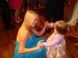 8.) I'm a proud aunt to four nieces and four nephews. (Here, I'm dancing with my niece Abbey).