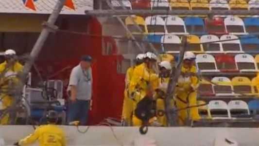 Daytona Crash cleanup