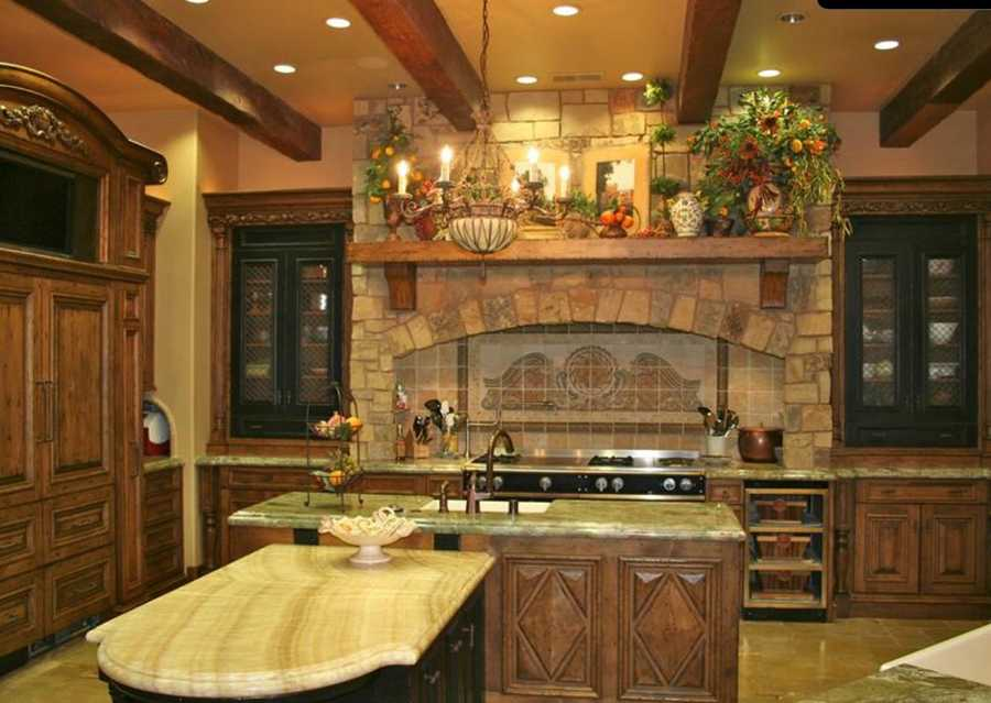 Here's a look inside the kitchen area.