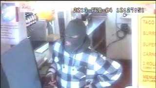 Robbery surveillance image