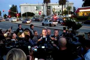 Santa Cruz Police Chief Kevin Vogel held a joint press conference with Sheriff Phil Wowak just hours after the detectives were slain on Feb. 26, 2013 to let the public know that the gunman was dead.