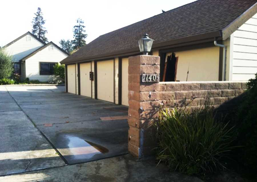 Goulet died here while he was pinned against this garage on Doyle Street in Santa Cruz. Goulet was wearing a bullet proof vest and opened fire first on SCPD officers and deputies. Officers returned fire with a hail of bullets and Goulet was killed in the shootout.