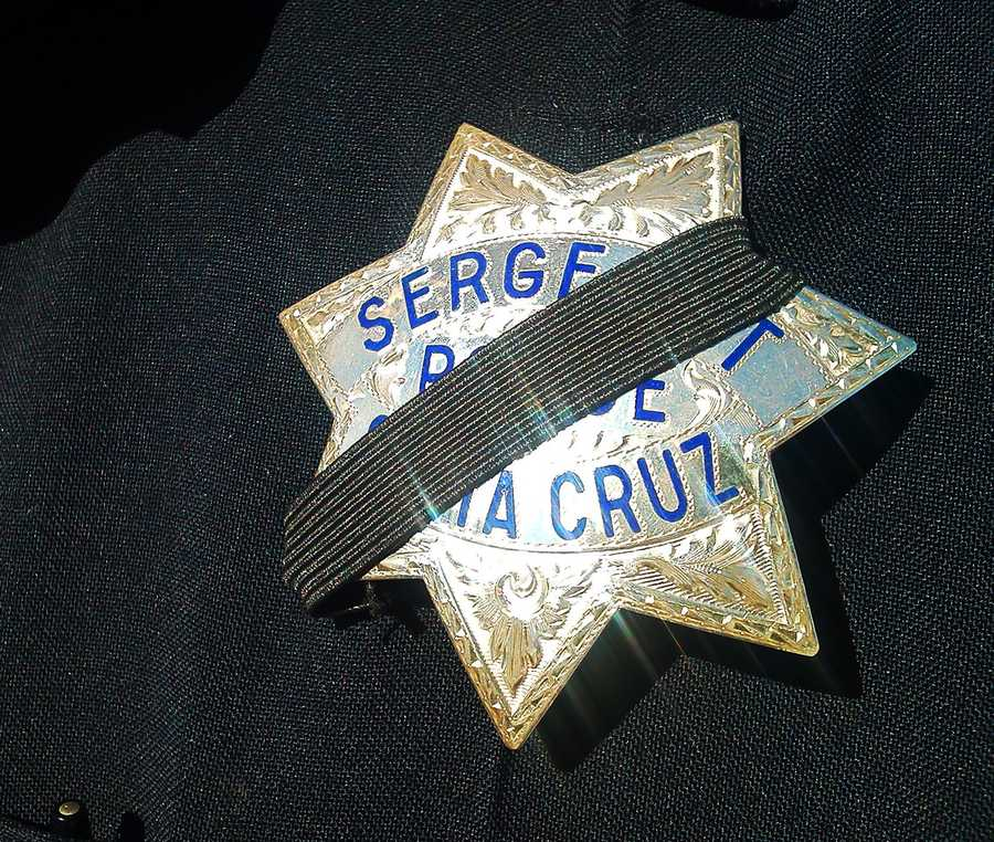 Santa Cruz police officers returned to work two days after the detectives were murdered.