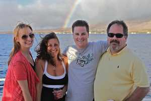 "Santa Cruz Police Det. Loran ""Butch"" Baker is seen with his family."