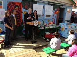 Assemblyman Rodger Dickinson was at Tuesday's ceremony to distribute the books. He was assisted by Sacramento City council members Darrell Fong and Bonnie Pannell in collecting the books.