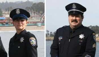 """A memorial service was held Thursday for Santa Cruz police officers Loran """"Butch"""" Baker and Elizabeth Butler, who were killed while investigating a sexual assault case on Feb. 26."""