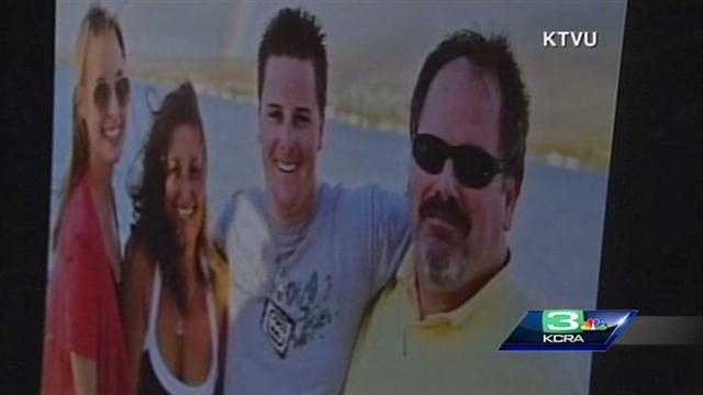 """A family photo of Sgt. Loran """"Butch"""" Baker that was shown during Thursday's memorial service at HP Pavilion"""