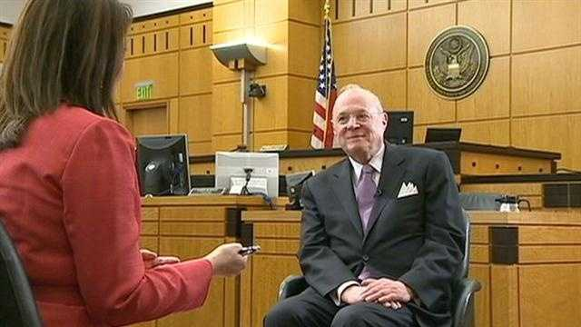 U.S. Supreme Court Justice Anthony Kennedy, who is from Sacramento, was in town Thursday for the dedication of a library and learning center named for him. He sat down for a one-on-one interview with KCRA 3's Edie Lambert.
