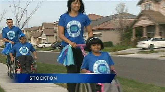 The Himenez family of Stockton takes on the Los Angeles marathon, wheelchairs and all!
