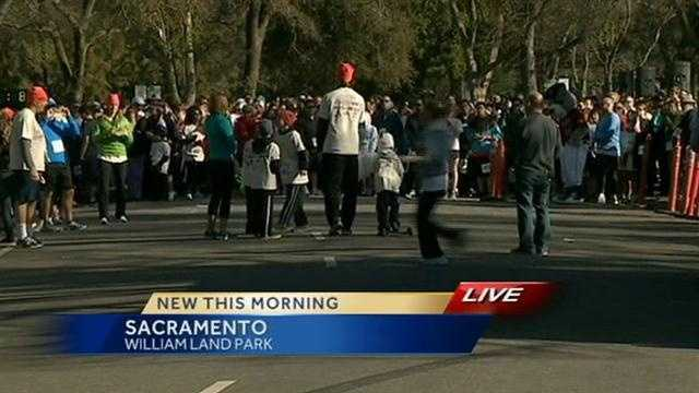 Thousands participated in the Donut Dash at Land Park in Sacramento on Saturday.