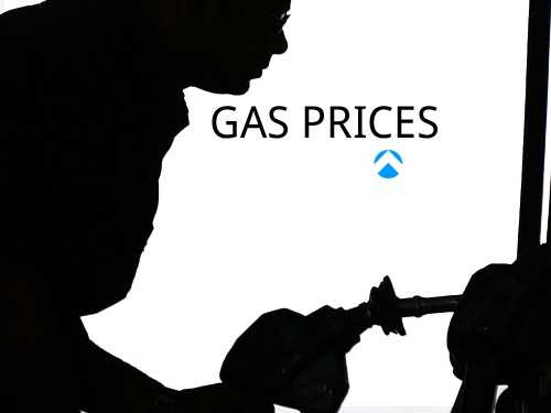 See the current price of gas and how much less prices went up from this time a month ago.