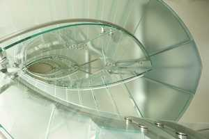 The staircase, from top to bottom.