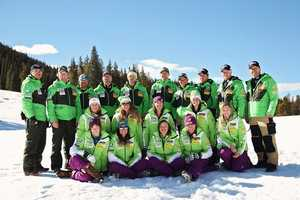 2012-13 U.S. Alpine Ski TeamWomen's A-TeamBack Row (left to right): Wade Bishop, Jeff Fergus, Pete Anderson, Roland Pfeifer, Ernie Rimer, Chris Knight, Miha Dolinar, Andi Moser, Chip White, Alex HoedlmoserMiddle Row: Alice McKennis, Resi Stiegler, Stacey Cook, Lindsay Winninger, Chelsea SteinbachFront Row: Laurenne Ross, Julia Mancuso, Leanne Smith, Mikaela ShiffrinNot Pictured: Lindsey Vonn, Ales Sopotnik, Matteo Fattor