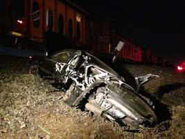 Authorities said the crash happened just after 5:30 a.m.
