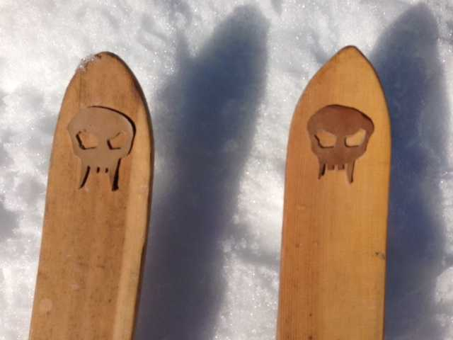 Some longboard skiers have customized their skis.