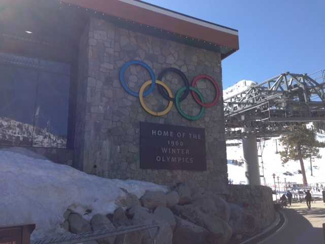 A plaque for the 1960 Winter Olympics held at Squaw Valley.