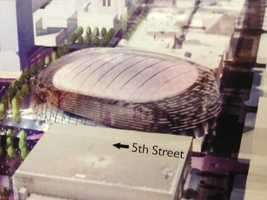 Here's an artist rendering of what the new downtown arena could look like (March 21, 2013).
