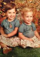 """14.) Yes, that is me on the right: """"Little Lisa Gonzales"""" and yes, I'm a natural blonde! My cousin, Renee, and I had matching curls and pot bellies!"""