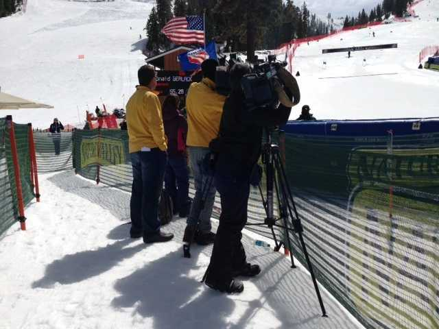 Both the men and women competed in the Super G at the U.S. Alpine Championships at Squaw Valley on Friday. (March 22, 2013)