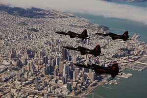 T-38 Talons over San Francisco, Calif.
