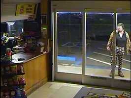 Police in Redding are asking for the public's help in identifying the suspect in a botched burglary. But if the man is wearing the same bright pants and jacket seen in surveillance footage, they may not need it.