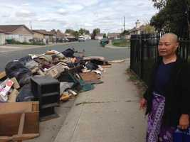 Proeung said she is concerned that these piles of trash will grow bigger, and the odor will grow stronger.