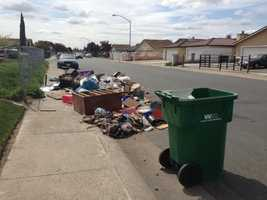 Residents say they received a notice in the mail explaining the next neighborhood cleanup day is not scheduled until April 23.