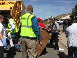 People helped clean Kirkby Lane on Friday, one day after a KCRA 3 investigation (March 29, 2013).