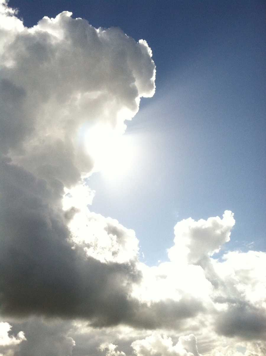 The sun poked through the clouds over Adventure Christian Church in Rocklin on Easter Sunday.