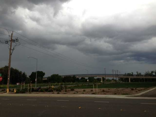 Big clouds moved in over Davis on Sunday afternoon.